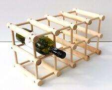 en bois Support libre Rack vin, 12 BOUTEILLE BARRE DE CUISINE PLATE-FORME,