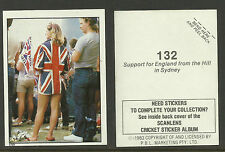 AUSTRALIA 1983 SCANLENS CRICKET STICKERS SERIES 2 - SUPPORT FOR  ENGLAND #132