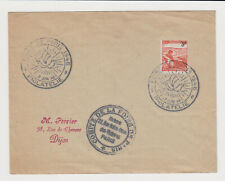 France 1946 Philatelic Fair Exhibition Special Cachet on Cover - p37639