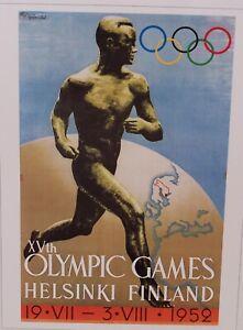 "Olympics HELSINKI FINLAND 1959   (16"" x 12"")"