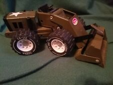 Vintage Tonka Pressed Steel Front End Loader ARMY GREEN XR-101 Tires