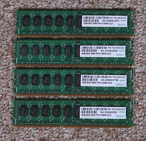 8GB 4x2GB PC3-10600 DDR3-1333MHz ECC REG PC3-10600R 240-Pin Server Memory