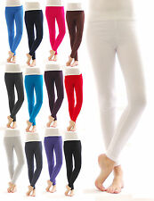 Thermo Leggings Hose lang Baumwolle Fleece leggins warm dick weich Damen Herren
