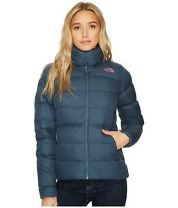 THE NORTH FACE WOMENS NUPTSE 700 DOWN PUFFER JACKET BLUE PINK SIZE S M L NEW