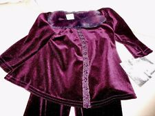 GORGEOUS 18 24 MO CACH CACH NWT CHRISTMAS DEEP PURPLE VELVET OUTFIT ADORABLE