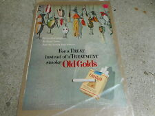 VINTAGE MAGAZINE AD #2023 - OLD GOLD CIGARETTES - FISHING LURES