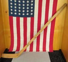 "Vintage 1950s Atom Wood Hockey Stick Straight Blade Canada Youth Sz. 35"" Display"