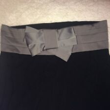 Topshop Pencil Skirt Large Bow Belt Pin Tuck Detail 1950s Rockabilly Mad Men