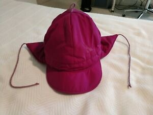 Serac Pink Hat Insulated USA Vintage Winter Ear Flap String Girls Women's Small