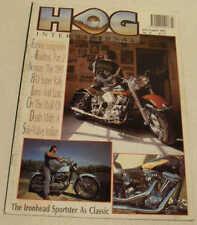 HOG Jul/Aug 1991 Harley-Davidson Duo Glide, Fat Boy, Albino Sturgis, XLCH