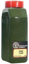 Woodland Scenics T1345 Turf Fine Green Grass 32 oz Shaker - NIB