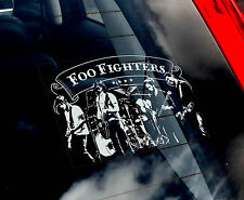 Foo Fighters - Car Window Sticker - Rock Sign - Dave Grohl Art Sign