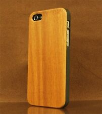 iPhone 4S/4 Handcrafted Real Cherry Wood Case Superior Grip