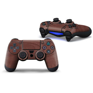 Playstation 4 PS4 Full Controller Skin Dark Wood