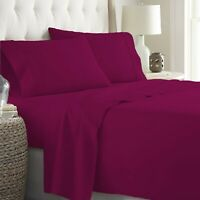 100% Cotton All Size Bedding Sets & Duvet Cover Set Wine Solid Select Item