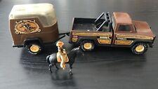 Vintage 1970's Buddy L Stables Pressed Steel Pickup Truck, Trailer & Horse