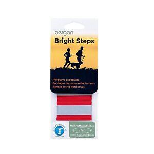BERGAN BRIGHT STEPS REFLECTIVE LEG BAND SAFETY RUNNING WALKING. TO USA