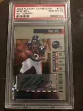 PSA 10 2006 PLAYOFF CONTENDERS MIKE BELL  AUTO SP #122 POP 4 ARIZONA RC