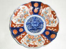 09B75 ANCIENNE ASSIETTE DÉCORATIVE ORIGINAL PLATE PEINT MAIN IMARI JAPON XIX e