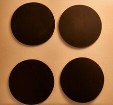 """FOUR 1.75"""" diameter (44.45mm) x 1/16"""" rubber disc gasket seal / treadmill feet"""