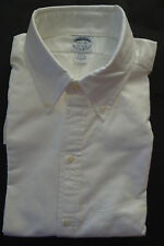 NWOT Brooks Brothers White Oxford Button Down Collar Shirt 16.5-34 Slim Fit