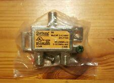 New Starburst Moca 2.0 2-Way Coax Splitter (5-1675 MHz 6kV)-with Screws