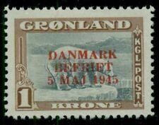 Greenland #25, 1kr Polar Bear, og, Lh, Vf, Scott $95.00