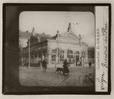 Lyon Brasserie du Parc Plaque photo positive de projection 8,5X10 Circa 1900