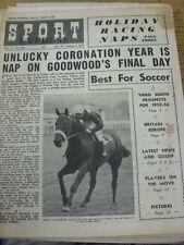 """29/07/1955 Sport EXPRESS magazine: Vol.17, No.394 - """"malchanceux Couronnement année est"""