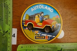 Alter Aufkleber Modellbau Modellbahn Fahrzeuge AUTOLAND FALLER