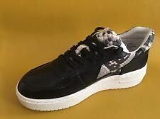 NEW ASH Fool Snake-Print Trimmed Leather Platform Sneakers Size Eur 36