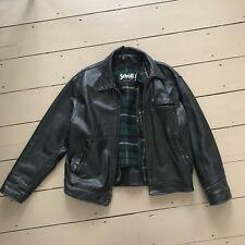 "Schott Vintage Leather Jacket Black  42"" Men's"