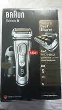 Open box Braun Series 9 9390cc Men's Electric Foil Shaver Wet and Dry - Silver