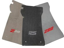 1970-1981 Chevy Camaro Velourtex Carpeted Floor Mats - Choose Mat Color & Logo