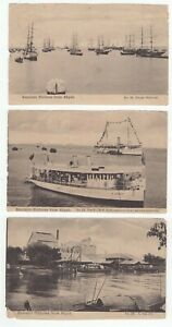 Akyab Burma 4 old postcards/photos