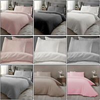 Teddy Bear Fleece Duvet Covers Quilt Cover Set Fluffy Warm Cosy Bedding Sets