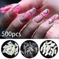 500pc Artificial False Acrylic UV Gel French/Curve French Nail Tips Choose