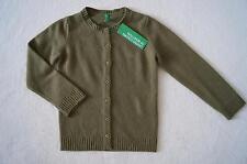 BENETTON  Strickjacke Gr. XXS, XS  98/104, 110 khaki 70%Wolle,10%Angora  *NEU!*