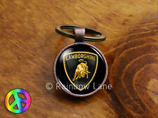 Handmade Lamborghini Car Keychain Key Chain Case Key Ring Accessories Gift