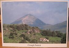 Irish Postcard CROAGH PATRICK Mountain Clew Bay Mayo Real Ireland Liam Blake 378