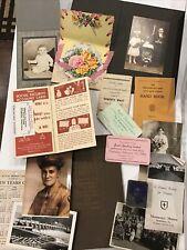 Big Lot Of Vintage Ephemera Photos Letters Paper Postcards And More 170+ Pcs
