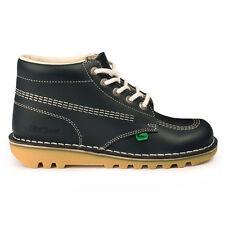 Kickers Kick Hi Navy White Natural Leather Ankle BOOTS UK 3 - EU 36