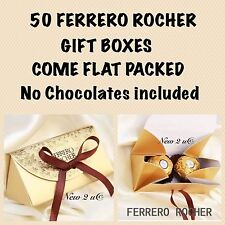 50 x Ferrero Rocher Favour Boxes With Ribbon /Gift Box Gift Wedding UK SELLER