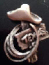 Texas - Bronze - Hat Tack Pin New Western Cowboy Hat And Rope -
