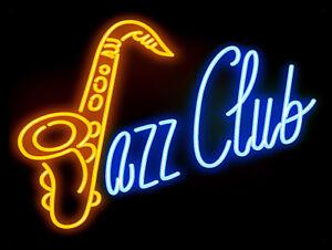 Jazz Club Neon Print, Retro metal Aluminium Sign vintage / man cave / Bar/ Pub