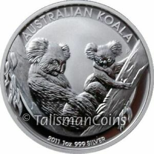 Australia 2011 Koala $1 1 Oz Pure Silver BU from original PERTH MINT ROLL