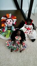 3 Caribbean Made Dolls