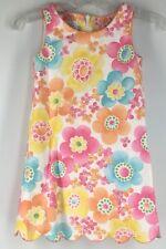 Girl's Dress Talbots Kids Sleeveless Floral Flower Power Pink Orange Blue 3