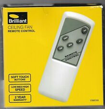 Brilliant 3 Speed Ceiling Fan And Light Remote 17697/05  AU Seller