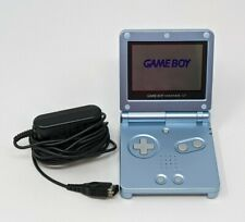 Nintendo Game Boy Advance SP Pearl Blue Console with Charger AGS 101 Works